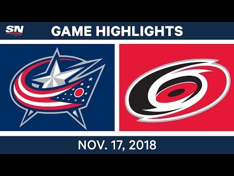 NHL Highlights | Blue Jackets vs. Hurricanes – Nov. 17, 2018