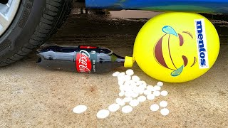 Crushing Crunchy & Soft Things by Car! - EXPERIMENT CAR vs Cola and Mentos in Balloon