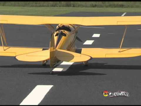 Great Planes Waco Classic Almost Ready-to-Fly Glow/Gas Biplane