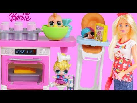 Masquerade Barbie Family DIY LOL Family Custom Fun Craft With Food