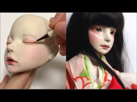 OOAK Art doll making process / clay bjd sculpture / 球体関節人形 制作過程