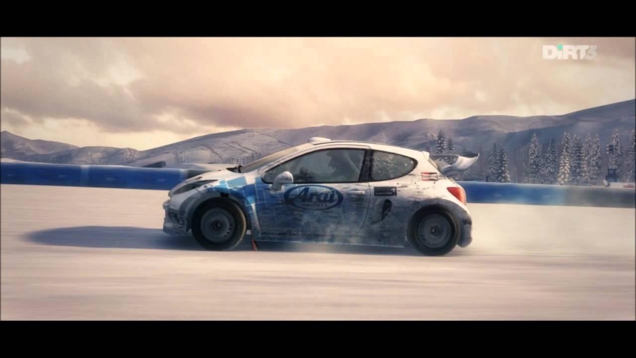 dirt 3 - gameplay cinematic - peugeot 207 t16 4x4 - aspen snow