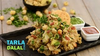 Papdi Potato and Chick Pea Chaat..