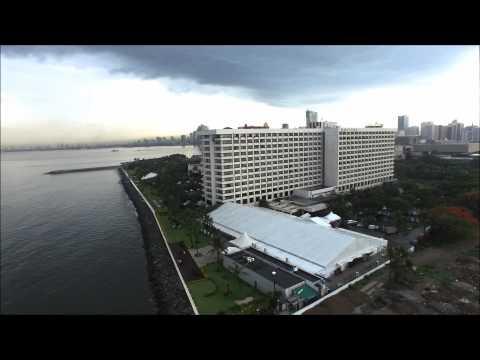 Hotel Sofitel, Philippine Plaza aerial video