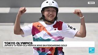 Japan's Nishiya, 13, first women's Olympic skateboard champion • FRANCE 24 English