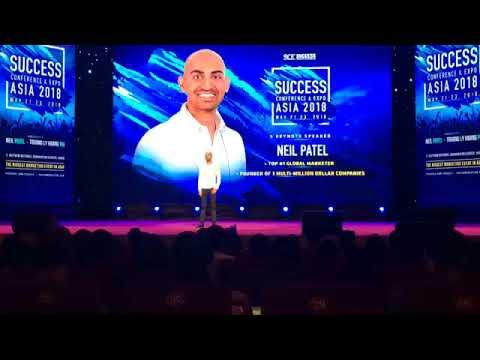 Chia sẻ của Neil Patel tại sự kiện Success Conference & Expo Asia 2018