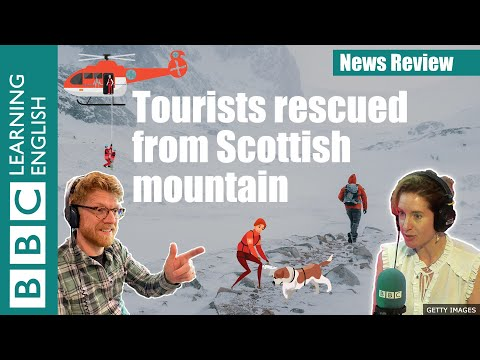 Tourists rescued from Scottish mountain: BBC News Review