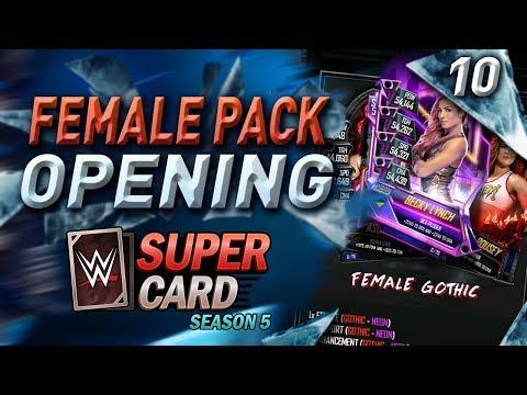 FEMALE PACK OPENING!! #WWESUPERCARD SEASON 5 PACKS ! #10