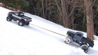 RC ADVENTURES - TUG & TOW - Scale 4x4 RC Trucks - Group Trail Crawl - PT 2