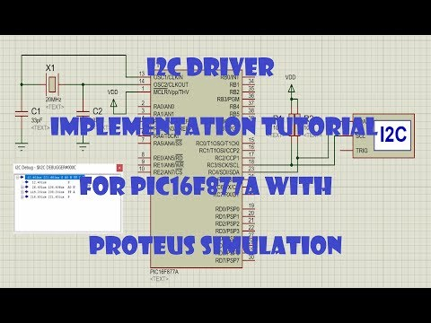 I2C driver for PIC16F877A with Proteus simulation | I2C