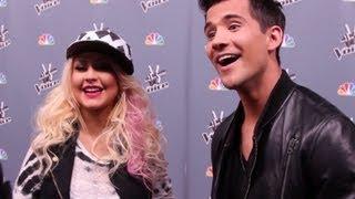 Christina Aguilera & Dez Duron Interview 'The Voice'- Top 8 Elimination Show