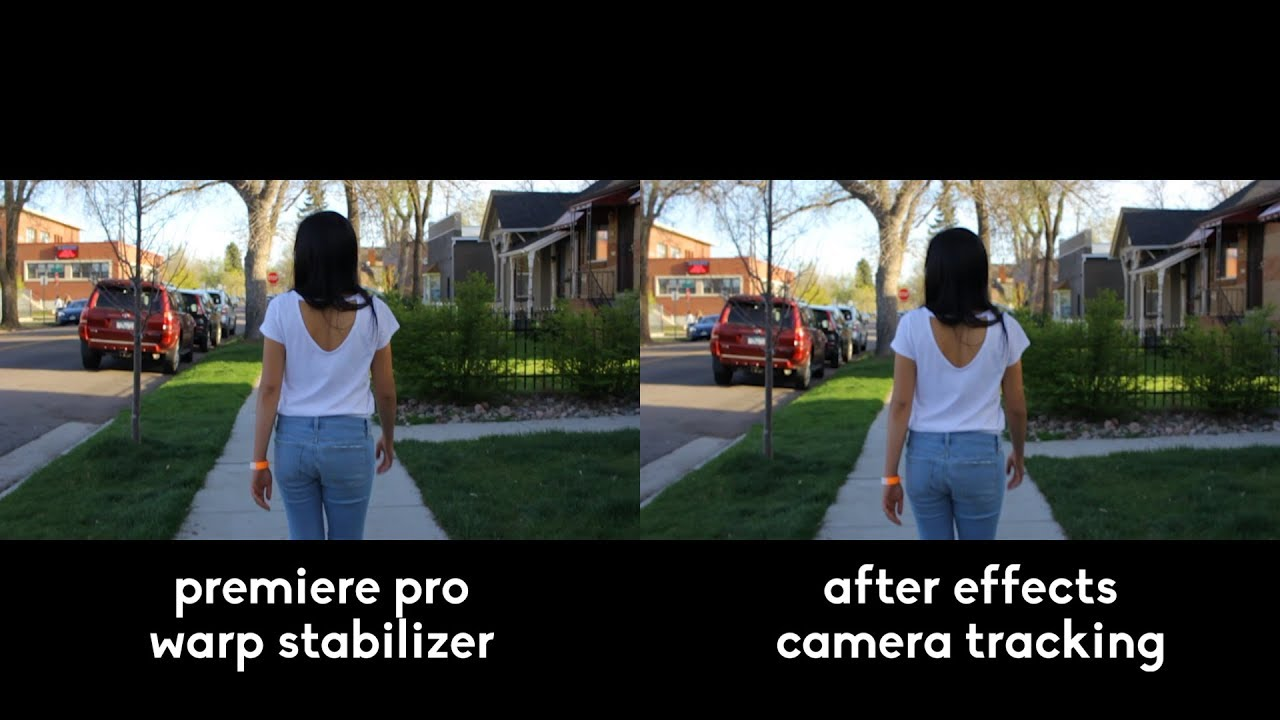 Premiere Pros Warp Stabilizer vs  After Effects Camera Tracking