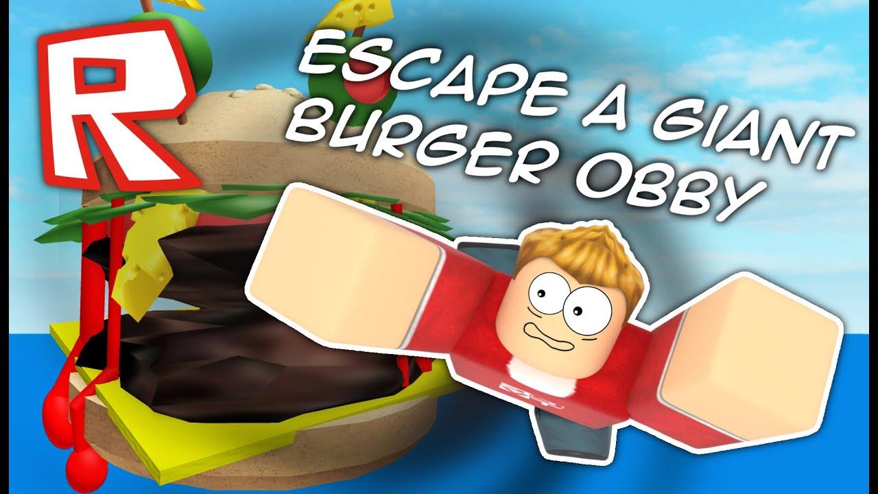 Escape The Giant Burger Roblox Obby Youtube - roblox escape do hamburguer gigante escape a giant burger obby
