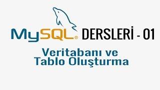 MySQL - 01 - Veritabanı ve Tablo oluşturma