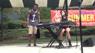 "Christina Grimmie and Matthew Schuler singing ""Stay"" at East Hills"