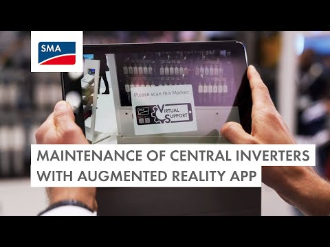 Maintenance of Central Inverters with Augmented Reality App