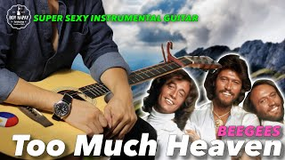 Too Much Heaven Beegees Instrumental guitar karaoke cover with lyrics