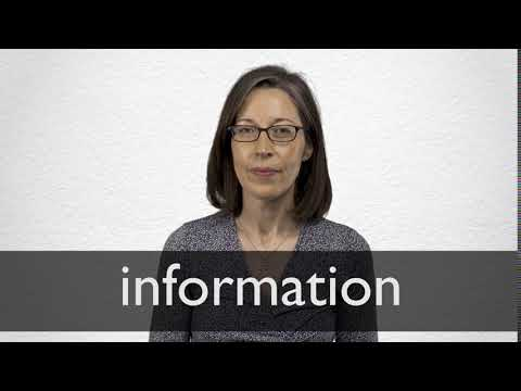 Information Definition And Meaning Collins English Dictionary