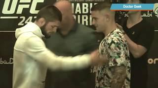Khabib VS Dustin Poirier  Staredown Body Language (UFC 242)