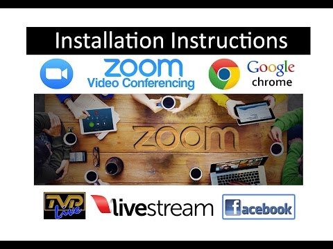 How to Install 'Zoom Meetings' on a Laptop PC with Camera