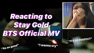 BTS Stay Gold Official Mv (REACTION)