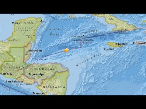 Quake hits north of Honduras, tsunami alert issued