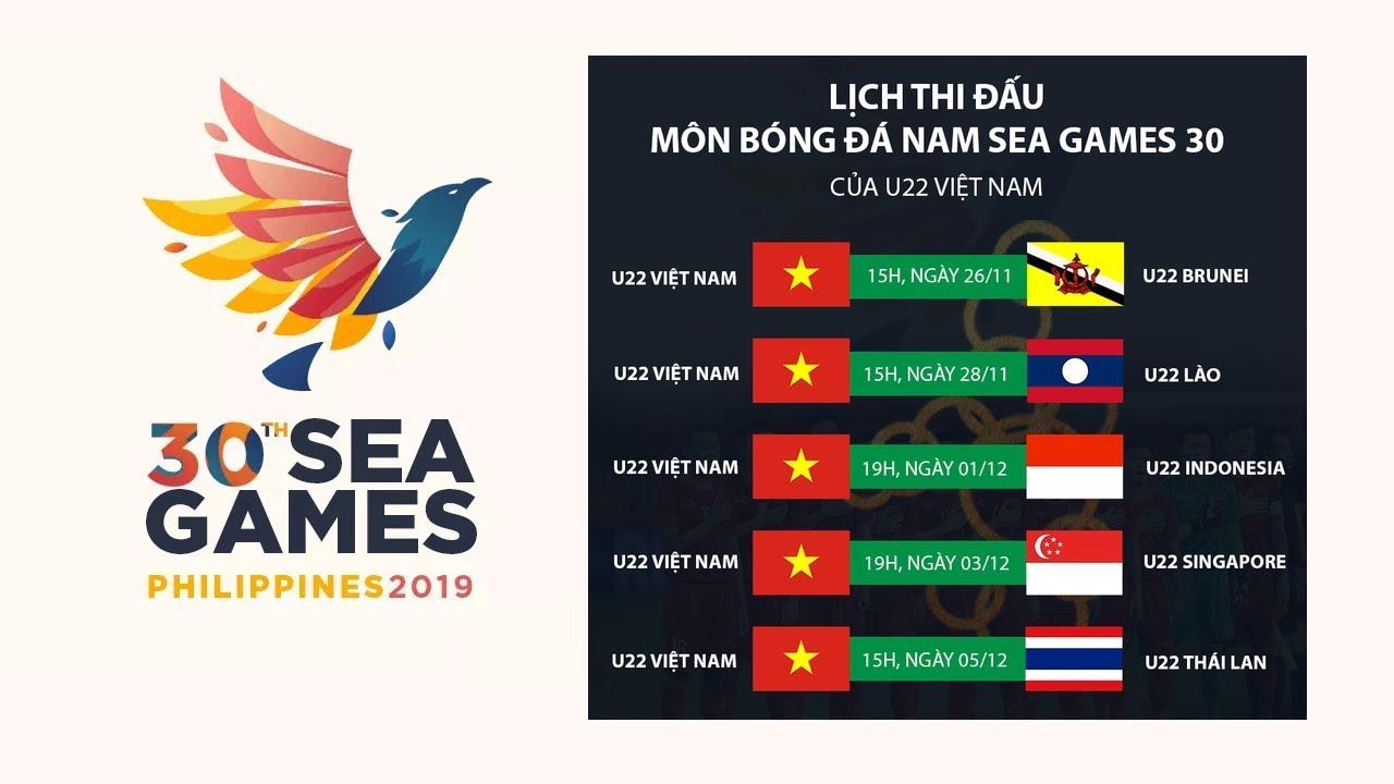 Lịch thi đấu bóng đá SEA Games 30 - Bóng đá tại Đại hội Thể thao Đông Nam Á Philippines 2019