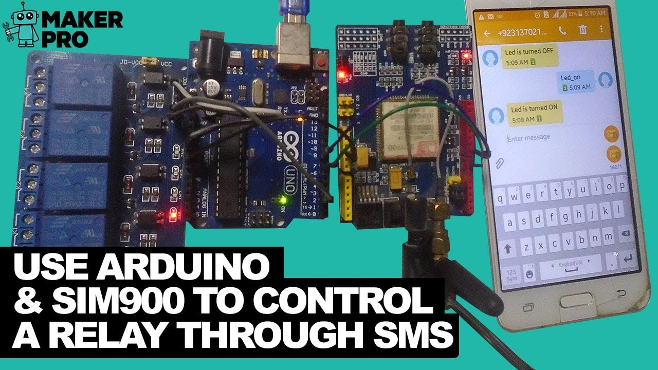 How to Use Arduino and a SIM900 to Control a Relay Through