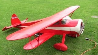 Big Waco Rc Bi Plane Scale Scratch Built From Plans Smmac 7-5-2010