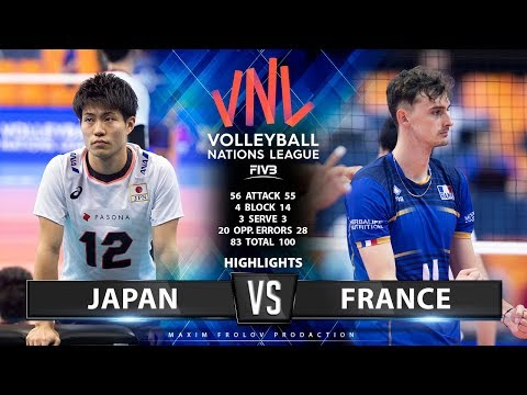 Japan Vs France | Highlights Men's VNL 2019