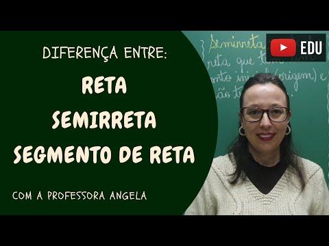 Você sabe a diferença entre: RETA, SEMIRRETA e SEGMENTO DE RETA - Professora Angela