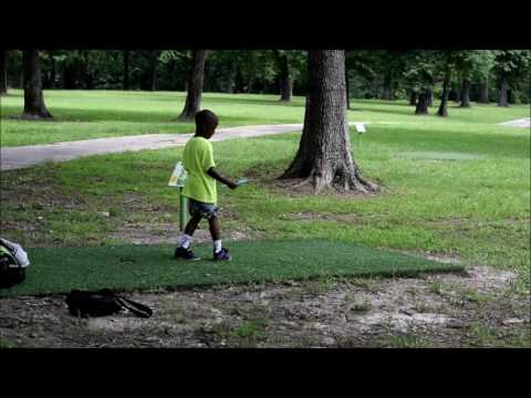 5 year plays disc golf daily, pro in the making V'ron