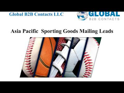Asia Pacific Sporting Goods Mailing Leads