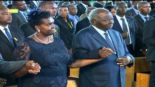 VIDEO:  Leaders, family members pay tribute to Mama Lucy Kibaki at requiem mass