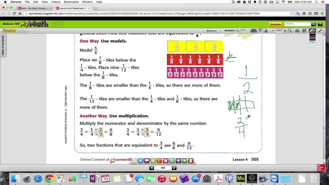 Chapter 8 Lesson 4 Equivelent Fractions