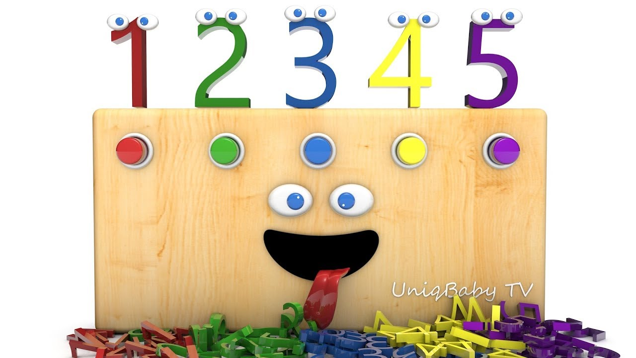 Learning Numbers with Funny 3D Radio - 3D Animation for Kids Toddlers Babies