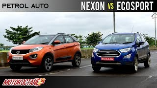 Tata Nexon Petrol AMT vs Ford Ecosport Auto Comparison | Hindi | MotorOctane