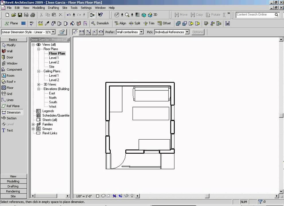 Floor Plan Revit Step 9 0 Youtube