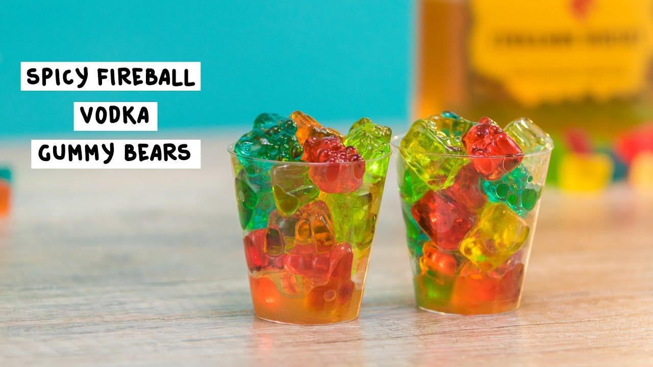 Spicy Fireball Vodka Gummy Bears Tipsy Bartender