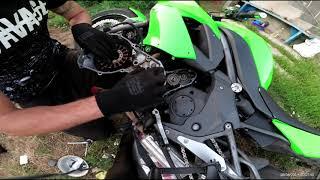 Как заменить генератор на мотоцикле KAWASAKI ER 6F 2009