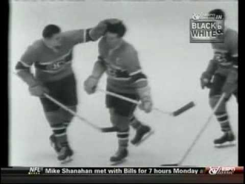 1957 Stanley Cup Finals Montreal Canadiens and Boston Bruins