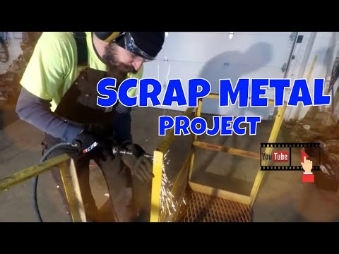 DIY SCRAP METAL PROJECT  (TOOL STORAGE PART 1) #lawncarebusiness #metalfabrication