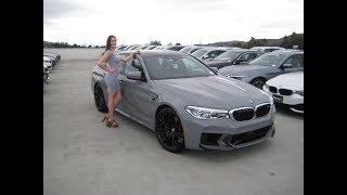 2018 BMW M5 in Nardo Grey / Exhaust Sound / 600 HP / F90 / BMW Review