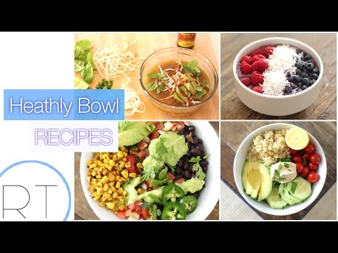 Healthy Recipe Bowls  (Acai, Pho, Burrito Bowl, Quinoa Salad)