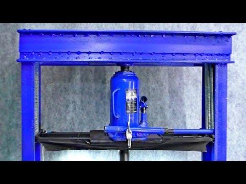 ПРЕСС ИЗ ДОМКРАТА СВОИМИ РУКАМИ | How To Make Hydraulic Press Machine || DIY