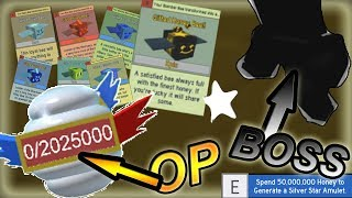 2Million BACKPACK ( Silver amulet) +GIFTED EGG BOSS - Roblox Bee swarm simulator