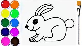 TAVŞAN NASIL ÇİZİLİR, HOW TO DRAW A RABBIT, Adım Adım Tavşan çizmeyi öğrenme!