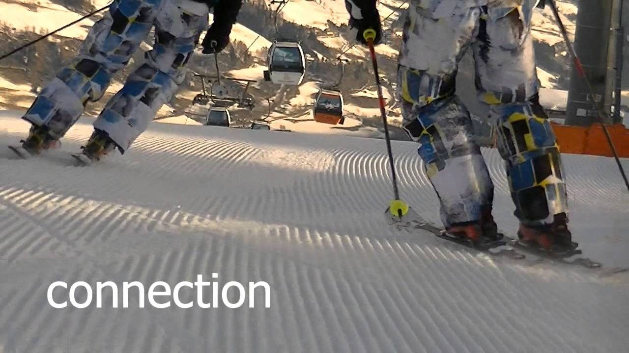 We love skiing carving paralell turns in slow motion