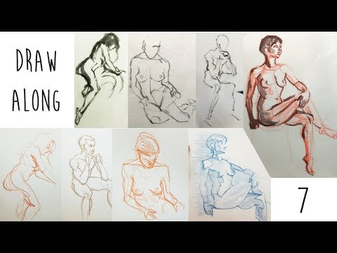 Draw Along Club 7 - life drawing PRACTICE with reference photos