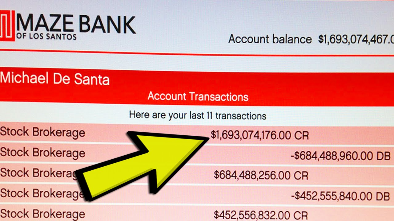 how to put money in your bank account on gta 5